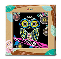 owl spiro scratch art