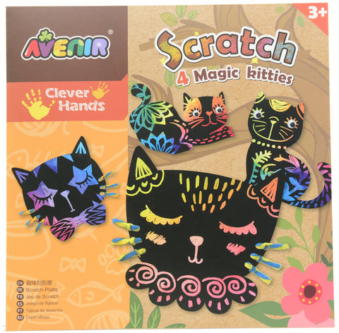 Scratch Art Kit - Magic Kitties