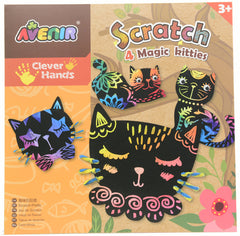 kidz-stuff-online - Scratch Art Kit - Magic Kitties