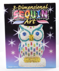Sequin Art 3D Owl Kit
