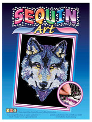 kidz-stuff-online - Sequin Art Wolf