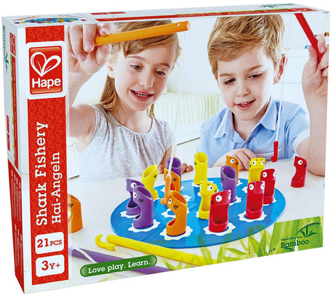 Hape - Shark Fishery Bamboo Board Game