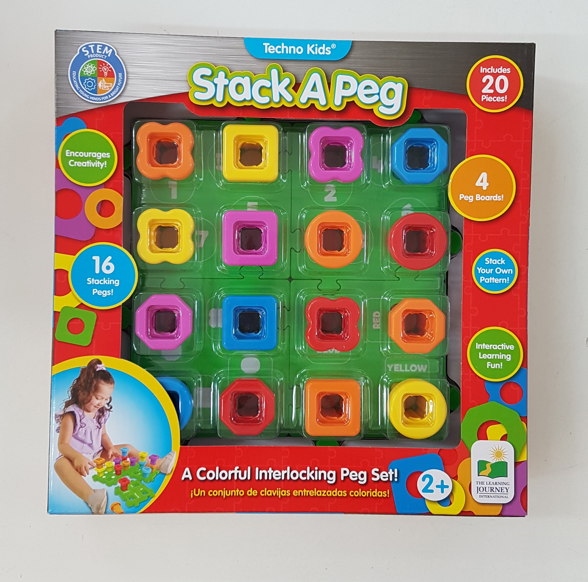 The Learning Journey Techno Kids – Stack A Peg