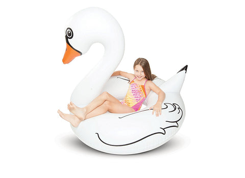 Giant White Swan Pool Float