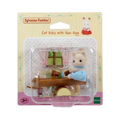 Sylvanian Families Cat Baby with See Saw