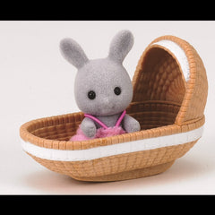 Sylvanian Families Rabbit Baby with Crib