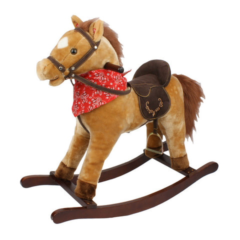 Rocking Horse with sounds - Tan