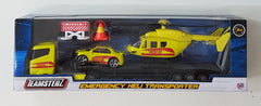 Emergency Helicopter Transporter - Die cast Yellow