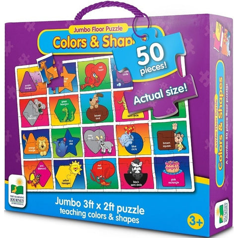 Colours and Shapes Jumbo Floor Puzzle The Learning Journey