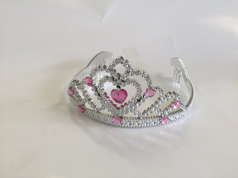 Tiara Pink and silver plastic
