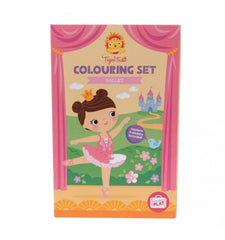 kidz-stuff-online - Tiger Tribe Colouring Set in a box - Ballet themed