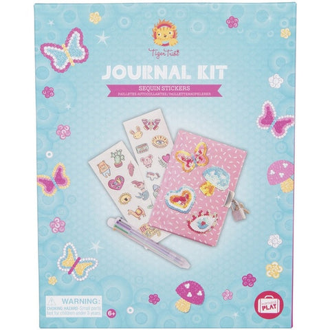 Journal Kit Tiger Tribe Sequin Stickers