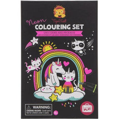Tiger Tribe Neon Colouring Set Unicorns and Friends