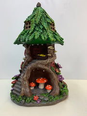 Solar-Powered Light-Up Fairy Garden Tree House