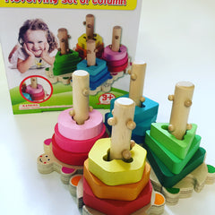 Twist and turn Stacker wooden
