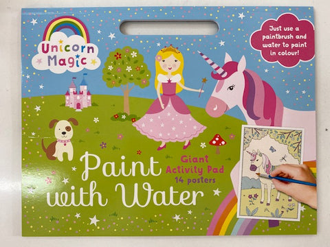 Unicorn Magic Paint with Water Giant Activity Pad