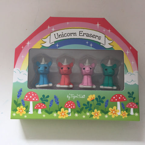 Tiger Tribe Unicorn Eraser Set