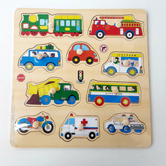 kidz-stuff-online - Construction Wooden Knob Puzzle