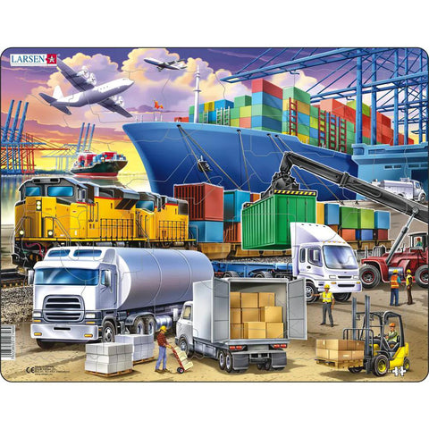 Busy Cargo Hub puzzle 37 pieces larsen