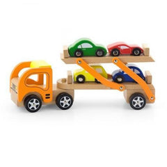 Wooden Car Carrier With 4 Cars