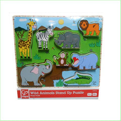 Wild Animals Stand Up Wooden Puzzle - Hape