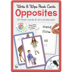 Wipe and write Flash Cards Opposites