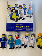 wooden dolls occupation set