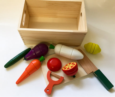 Wooden Vegetable cutting food Set