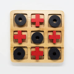 Naughts and Crosses wooden game