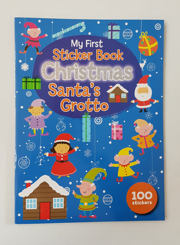My First Sticker Book Christmas Santa's Grotto