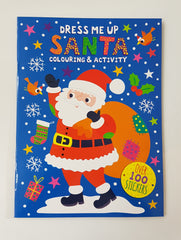 Dress Me Up Santa Colouring and Activity