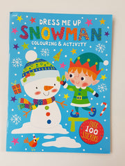 Dress Me Up Snowman Colouring and Activity
