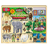 Zoo Wooden Blocks 35-Piece