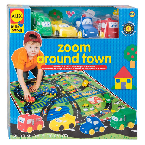 Car Play Mat - Zoom Around Town