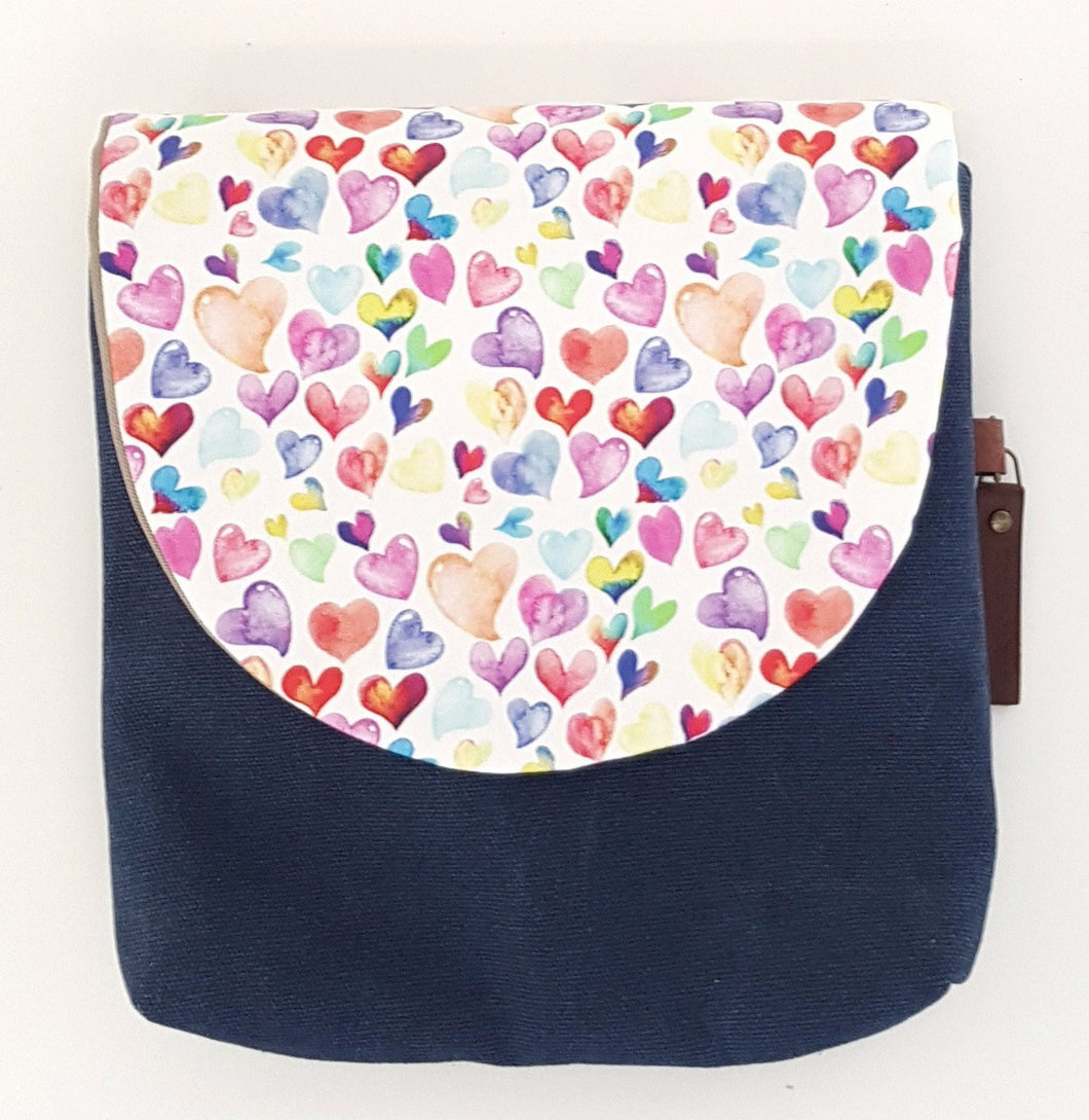 Coloured hearts Kid's Bag LARGE