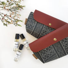 Black tribal medium clutch