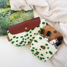 Green polka dots DOUBLE mixed