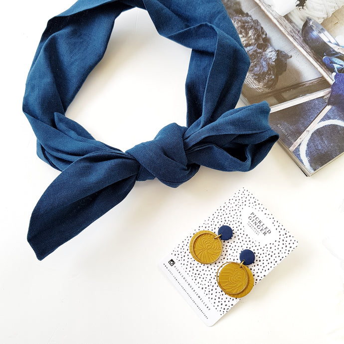 Dark Navy headscarf
