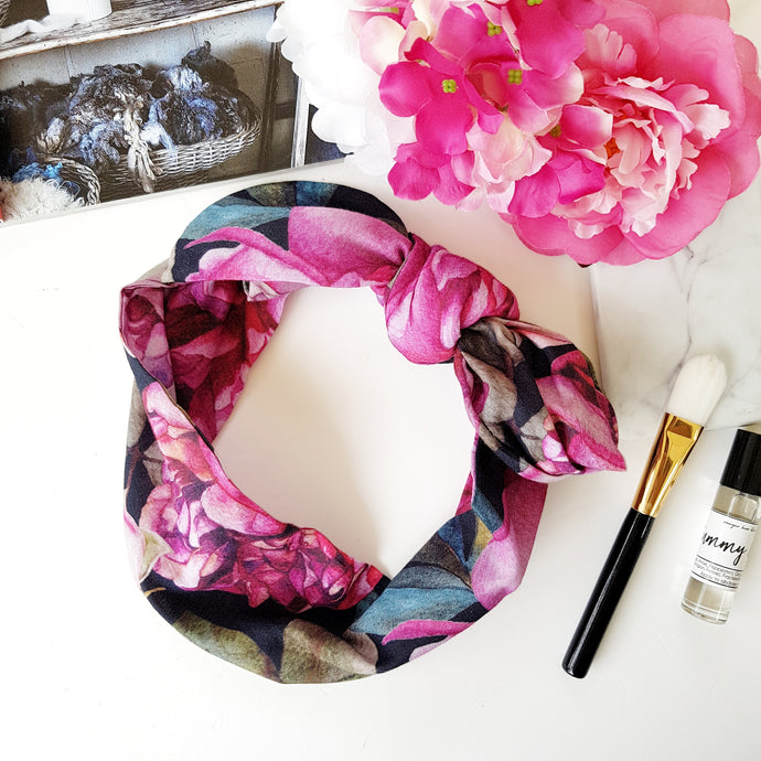Rose garden headscarf