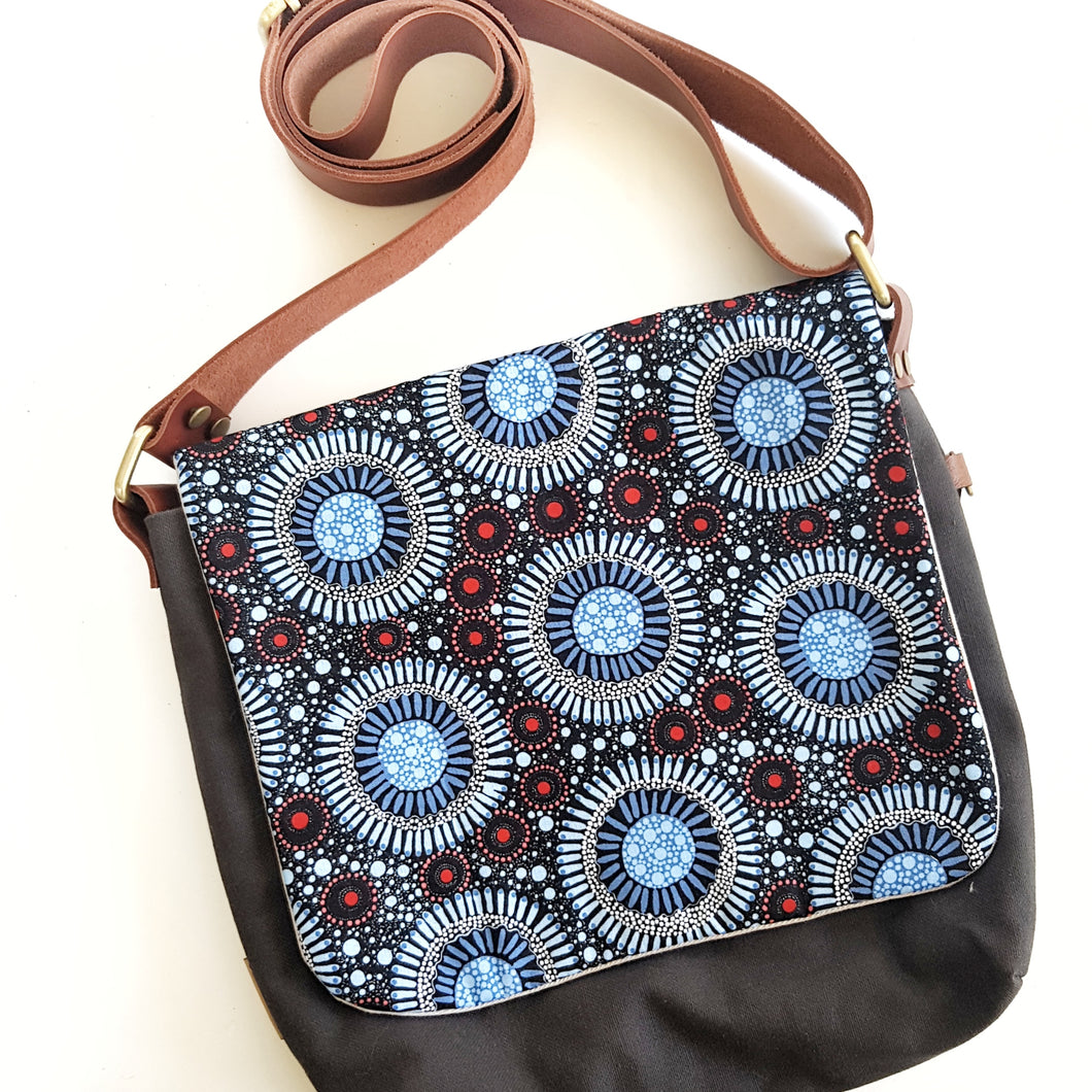 CROSS BODY blue native Australian
