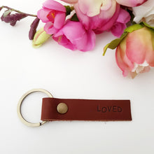 Personalised leather key tag
