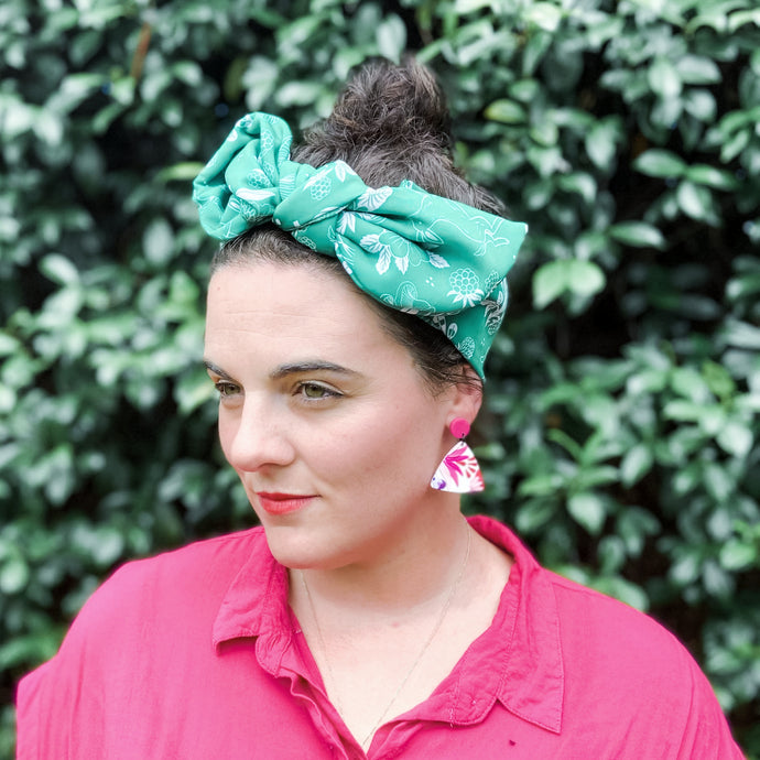 Emerald green headscarf