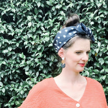 Black and white polka headscarf