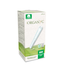 Organyc 100% Organic Cotton Tampons with Applicator Super, 14 Pcs