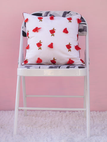 Rose White Cushion Cover (4365092519979)