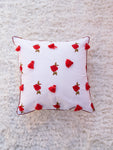 Rose White Cushion Cover