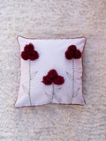 White Pop up Flower Cushion Cover