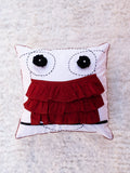 Owl Frill Cushion Cover