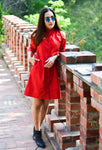 The Red Reign Shirt Dress
