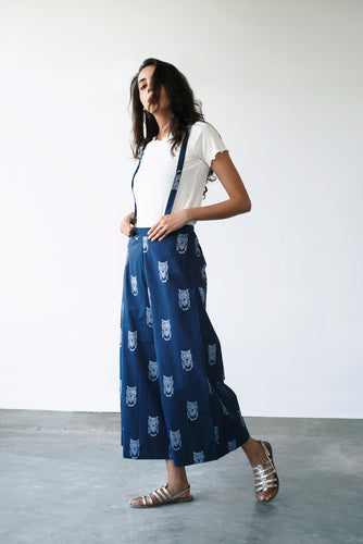 Ulloo Dungree Wide Leg Pants